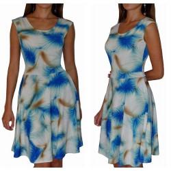 sukienka w kolorowe NIEBIESKIE wzory