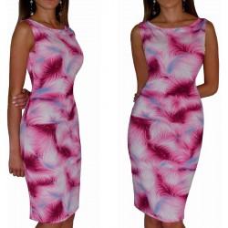 Klasyczna sukienka w RÓŻOWE wzory