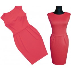 Sukienka TULIPAN * Bądź piękna! KORALOWA