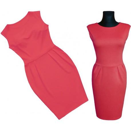 Sukienka TULIPAN * Bądź piękna latem! KORALOWA