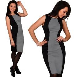 Wyszczuplająca sukienka czarna SZARA
